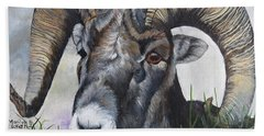 Big Horned Sheep Bath Towel