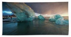 Big Ice Hand Towel by Allen Biedrzycki