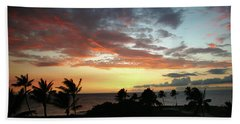Hand Towel featuring the photograph Big Island Sunset #2 by Anthony Jones