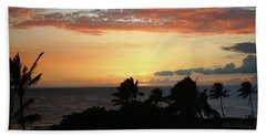 Bath Towel featuring the photograph Big Island Sunset by Anthony Jones