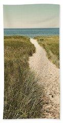 Bath Towel featuring the photograph Big Lake Beach Path by Michelle Calkins