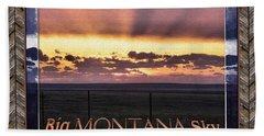 Hand Towel featuring the photograph Big Montana Sky by Susan Kinney