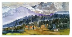 Big Mountain Sunset Hand Towel