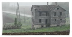 Big Old House In Fog Hand Towel