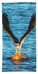 Big Orange Koi Fish Wins Bath Towel by Jeff at JSJ Photography