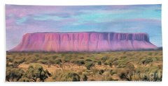 Big Pink Mesa Hand Towel by Walter Colvin
