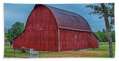 Hand Towel featuring the photograph Big Red Barn At Cross Village by Bill Gallagher