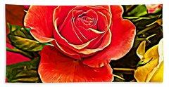 Big Red Rose Bath Towel