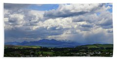Bath Towel featuring the photograph Big Sky Over Oamaru Town by Nareeta Martin