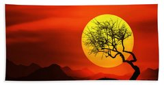 Big Sunset Hand Towel by Bess Hamiti