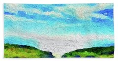 Hand Towel featuring the painting Big Sur by Joan Reese