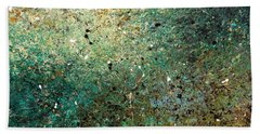 Bath Towel featuring the painting Big Universe - Abstract Art by Carmen Guedez