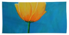 Big Yellow Tulip Bath Towel