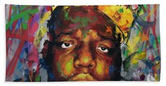 Hand Towel featuring the painting Biggy Smalls II by Richard Day