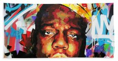 Bath Towel featuring the painting Biggy Smalls IIi by Richard Day