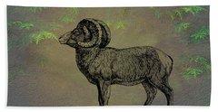 Bighorn Sheep  Hand Towel