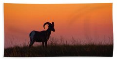 Bighorn Sunset Bath Towel
