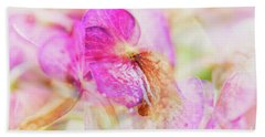Bigleaf Hydrangea Abstract Bath Towel