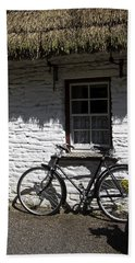 Bike At The Window County Clare Ireland Bath Towel