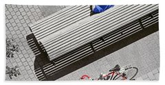 Bath Towel featuring the photograph Bike Break by Keith Armstrong