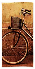 Bicycle At Rest, Paris  Hand Towel