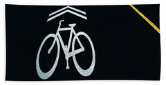Bike Lane Symbol And Boundary Bath Towel