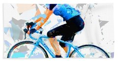 Bath Towel featuring the painting Biker 1 by Movie Poster Prints