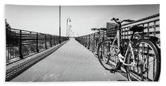 Bikes And Fences. Bath Towel