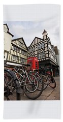 Bath Towel featuring the photograph Bikes Galore In Cambridge by Gill Billington