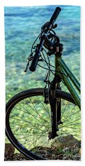 Biking The Rovinj Coastline - Rovinj, Istria, Croatia Hand Towel