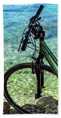 Biking The Rovinj Coastline - Rovinj, Istria, Croatia Bath Towel