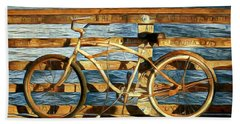 Biking To The Beach Hand Towel