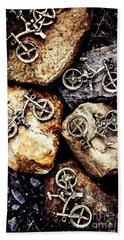 Biking Trail Scene Bath Towel