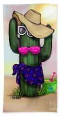 Bikini Cactus Bath Towel