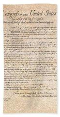 Bill Of Rights Bath Towel