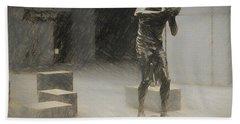 Bill Russell Statue Hand Towel