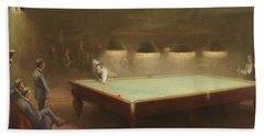 Billiard Match At Thurston Hand Towel