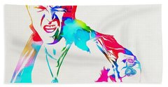 Billy Idol Watercolor Paint Bath Towel