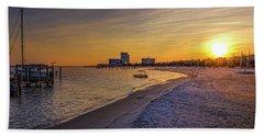 Biloxi Beach Sunset Hand Towel by Barry Jones