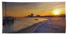 Biloxi Beach Sunset Bath Towel by Barry Jones