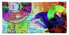 Binary Data Abstract Bath Towel by Phil Perkins