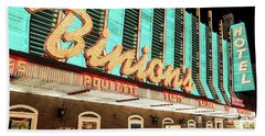 Hand Towel featuring the photograph Binions Hotel And Casino by Aloha Art