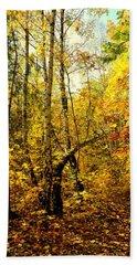 Birch Autumn Hand Towel by Henryk Gorecki