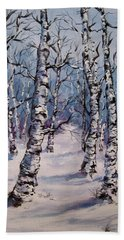 Birch Forest  Hand Towel by Megan Walsh