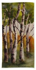 Birch Hand Towel by Marilyn Jacobson