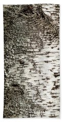 Hand Towel featuring the photograph Birch Tree Bark by Christina Rollo