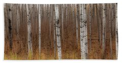 Birch Trees Abstract #2 Bath Towel