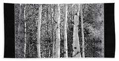 Bath Towel featuring the photograph Birch Trees by Susan Kinney
