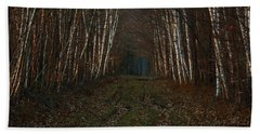 Birches At Blue Hour Hand Towel