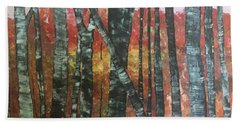 Birches In The Fall Hand Towel by Paula Brown